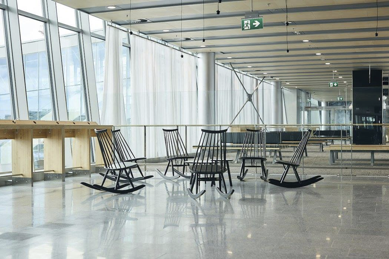 Helsinki Airport South Pier Rocking Chairs