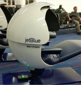Jet Blue Metronaps sleep pods at JFK Airport
