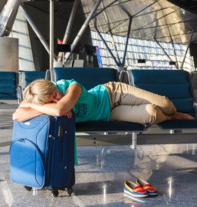 Saftey tips for woman airport sleepers